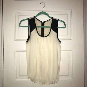 Tops - Leather Detailed Women's Tank